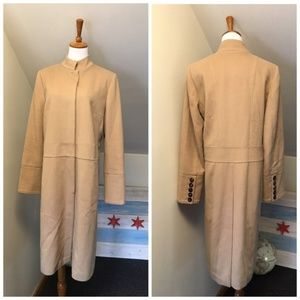 Burberry Wool Cashmere Camel Pea Coat 12